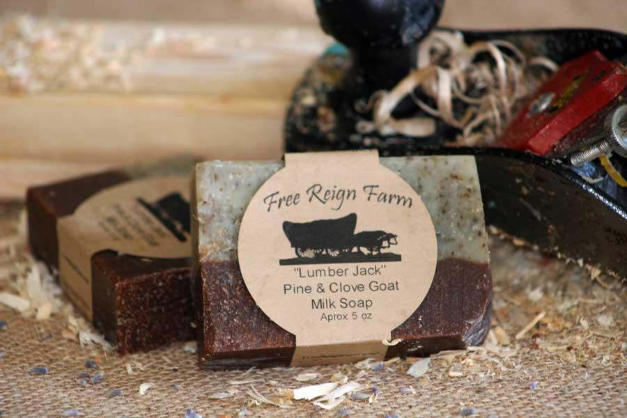 Pine and clove goat milk soap