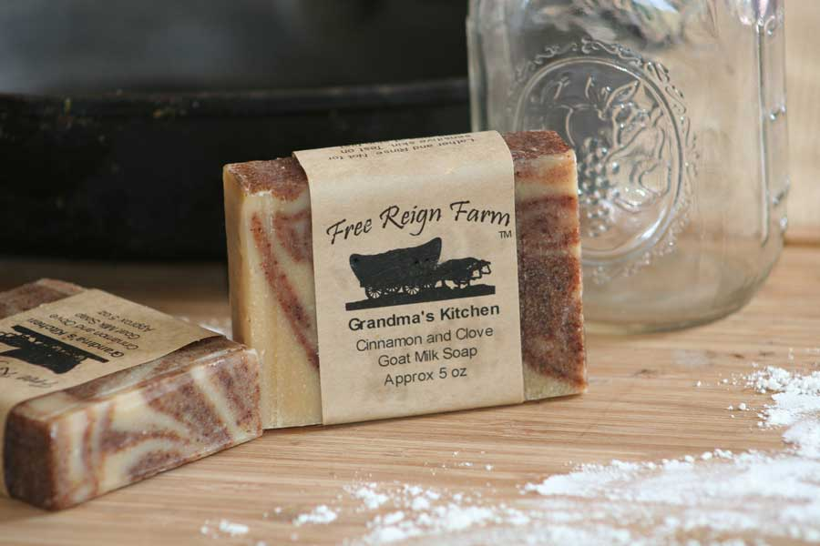 Cinnamon and clove goat milk soap